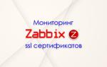 Мониторинг срока действия ssl сертификата в zabbix