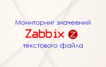 Мониторинг значений из текстового файла в zabbix